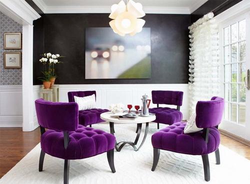 Không nên lạm dụng màu tím trong các món đồ nội thất gia đình. Ảnh: Zunetop.