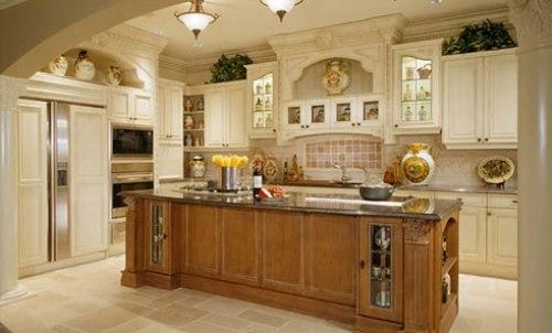 Điểm sáng trên tủ bếp.