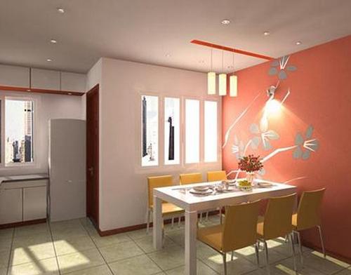 Đèn tường phá cách tạo điểm nhấn độc đáo cho gian phòng ăn.