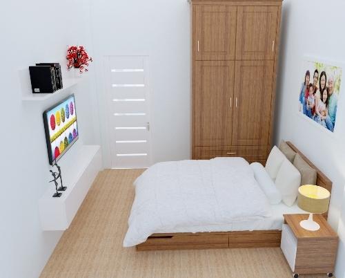 Phòng ngủ bố mẹ ngầp tràn ánh sáng.