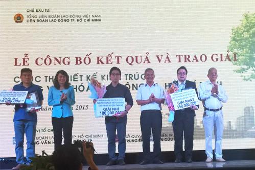 Quan cảnh buổi lễ trao giải tại Cung văn hóa lao động TPHCM