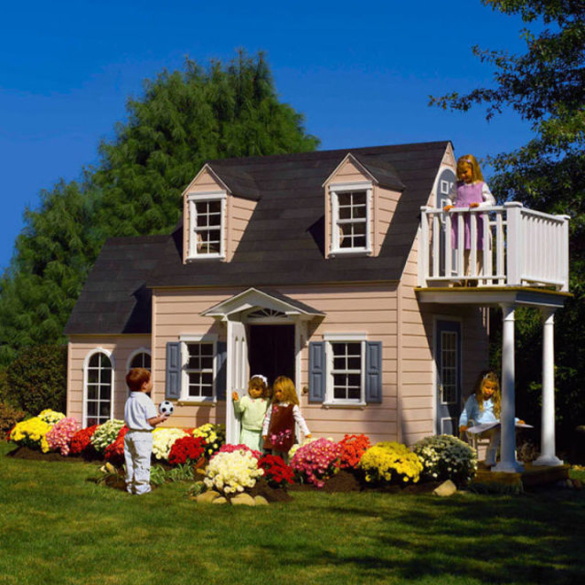 <p> Phiên bản thu nhỏ được làm như một ngôi nhà thông thường để trẻ có thể ở, vui chơi trong đó.</p>