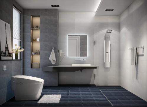 Một trong4 mẫu phòng tắm tối giản nhưng sang trọng củaCotto.