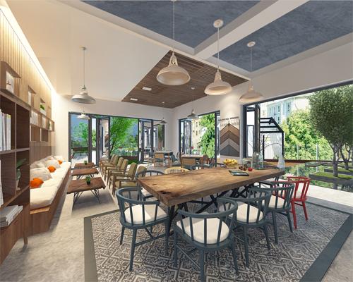 Không gian cà phê nơitầng một kết nối những người yêu thích kiến trúc Nhậtlại gần nhau.