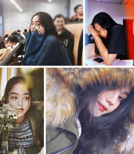 Khuôn mặt xinh đẹp của Khả Như hiện tại.