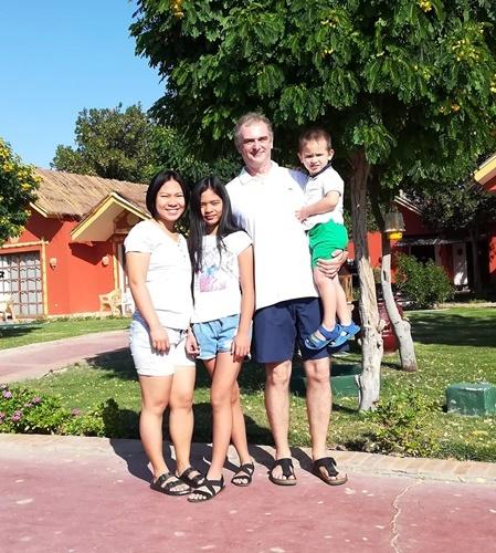 Gia đình nhỏ của chị Duyên ở Bochum, Đức. Ảnh: D.P.