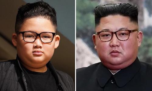 Bé Gia Huychụp ảnh sau khi cắt tóc giống lãnh đạo Triều Tiên Kim Jong-un.