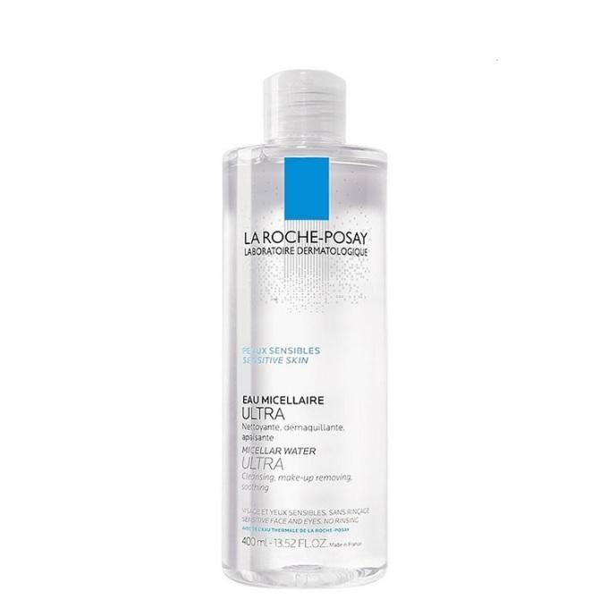 Nước tẩy trang La Roche-Posay Micellar Water Ultra Sensitive Skin chai 400 ml có giá ưu đãi, giảm còn 399.000 đồng. Sản phẩm có tác dụng làm sạch sâu cho da nhạy cảm. các dưỡng chất có trong nước tẩy trang giúp cung cấp độ ẩm, giảm ma sát tối đa khi làm sạch, giảm kích ứng và chống oxi hóa. Sản phẩm không chứa paraben, chất tạo màu, không cồn và xà phòng, duy trì độ pH tự nhiên của da nên an toàn với mọi loại da, kể cả da nhạy cảm.