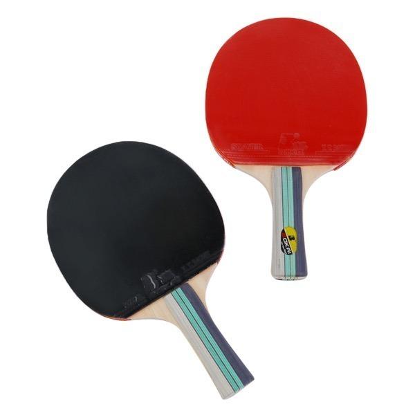 Bộ hai vợt kèm ba banh bóng bàn BL7118 có giá 169.000 đồng, giảm 16% so với giá gốc. Sản phẩm thiết kế dạng dán sẵn tiện lợi.Cán vợt làm bằng gỗ, tay nắm vừa phải, chắc chắn.Phần cốt gắn liền với lớp cao su mang đến sự ổn định, giúp cân bằng và kiểm soát tốt hơn. Trọng lượng vợt vừa phải, người chơi có thể dễ dàng di chuyển, kiểm soát, phù hợp với cả người thuận tay trái và tay phải.