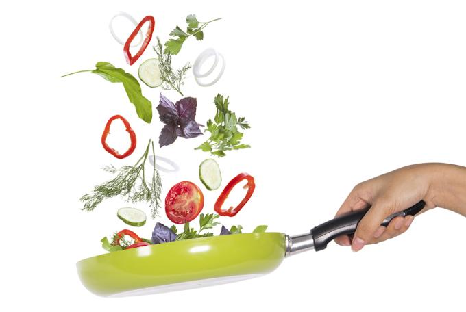 Nồi, chảo cách điệu làm mới góc bếp