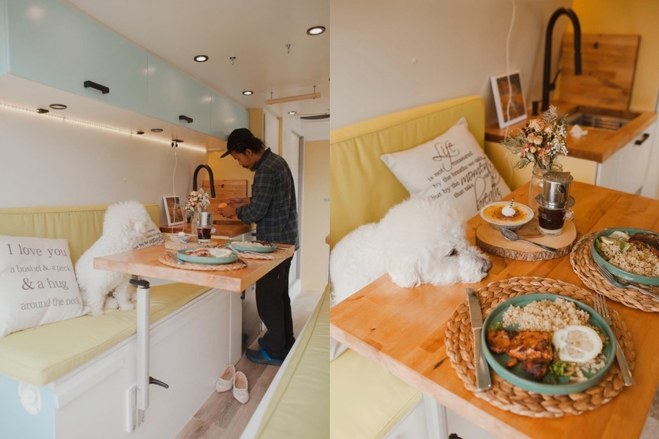 Căn nhà di động của cặp vợ chồng Việt