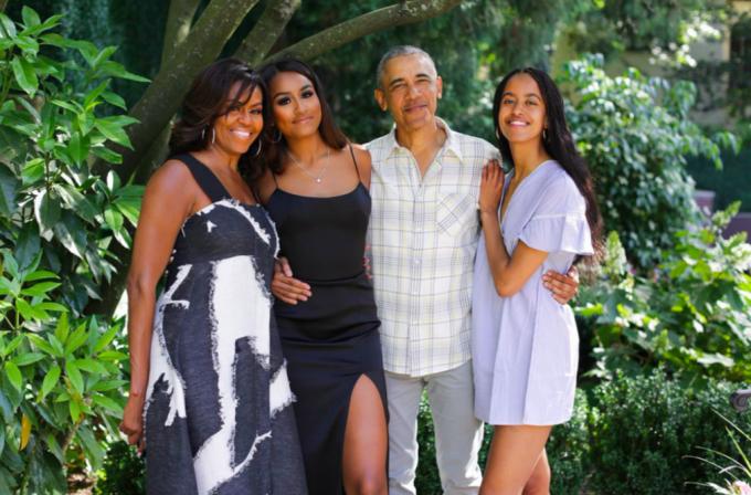 Gia đình Obama trong Lễ Tạ ơn năm 2019. Ảnh:Michelle Obama.