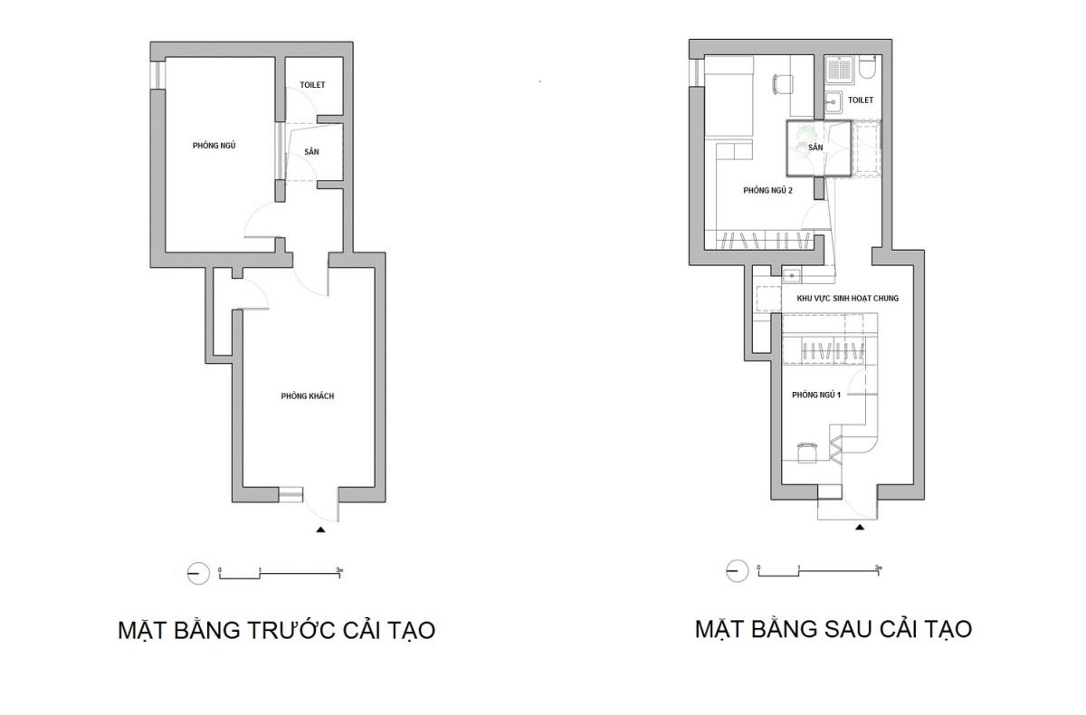 Nhà tập thể 37 m2