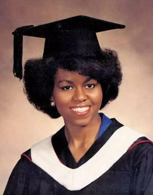 Michelle Obama trong lễ tốt nghiệp trường Luật của Đại học Harvard. Ảnh: ES.