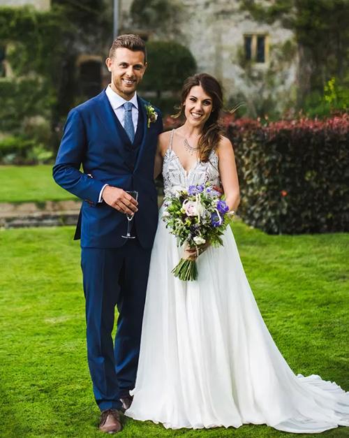 Heidi Savitt và Ed Savitt trong lễ kết hôn.