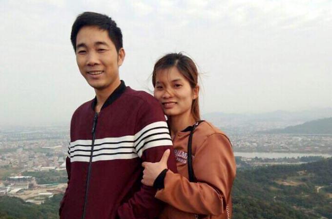 Vợ chồng anh Thân và chị Phương. Ảnh: Nhân vật cung cấp.