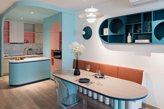 Bếp và phòng ăn trong nhà. Ảnh: Quang Trần.