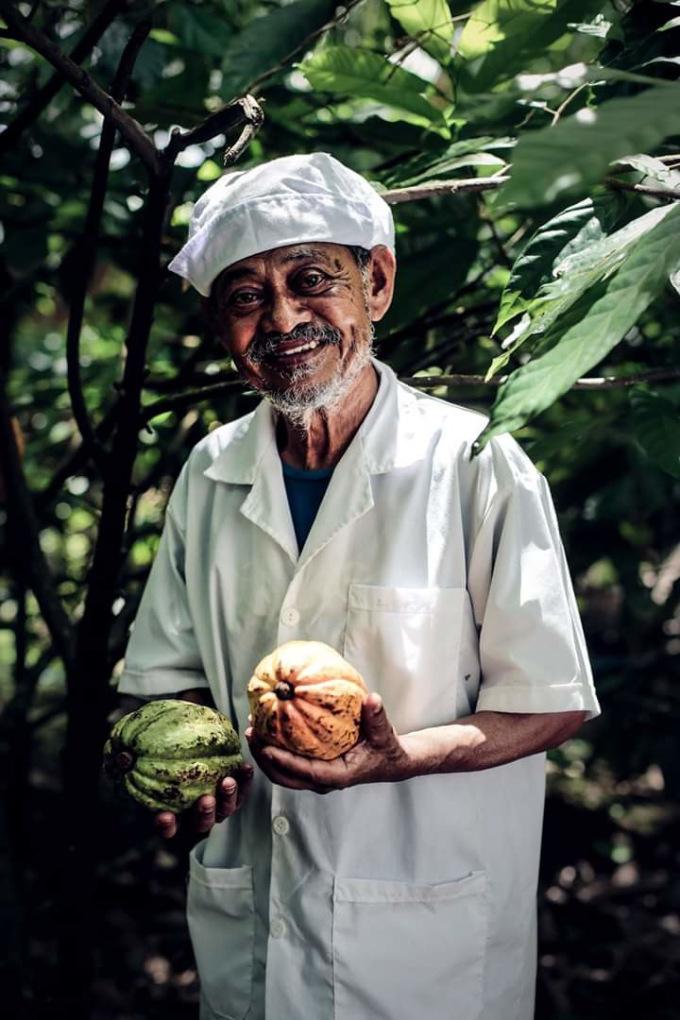 Ông Samy được người dân Tiền Giang gọi bằng cái tên thân thương là Ông già socola miền Tây. Ảnh: Nhân vật cung cấp.