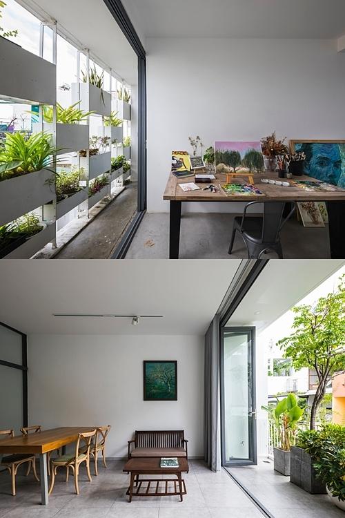 Các không gian bên trong nhà đều được tiếp xúc với thiên nhiên. Ảnh: Hiroyuki Oki.