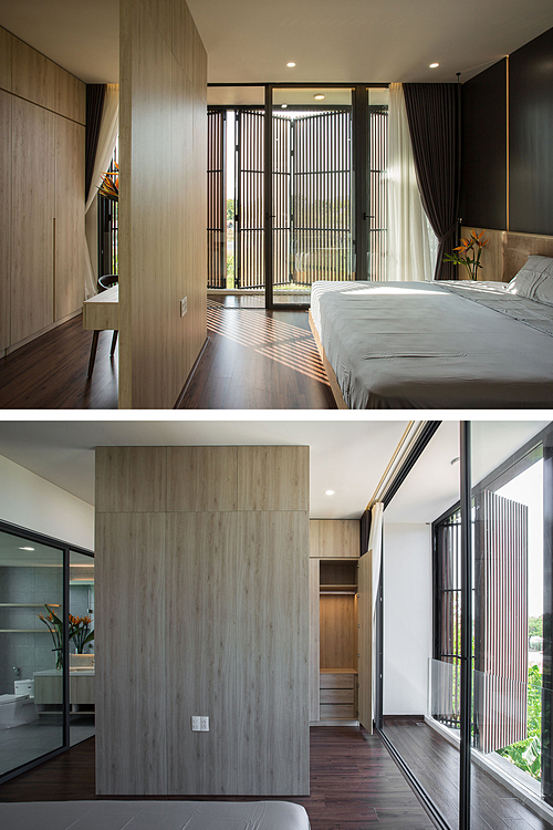 Không gian phòng ngủ master. Ảnh: 85 Design.