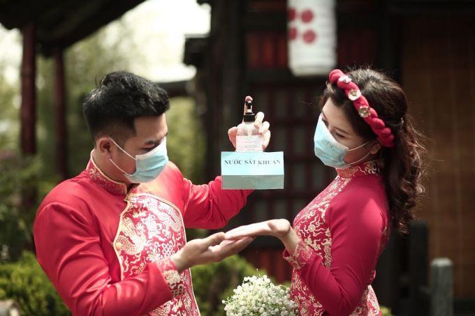Chú rể Cường và cô dâu Mỹ Hạnh đã vỡ kết hoạch cưới nhiều lần, trong đó có 2 lần do dịch bệnh. Ảnh: Nhân vật cung cấp.