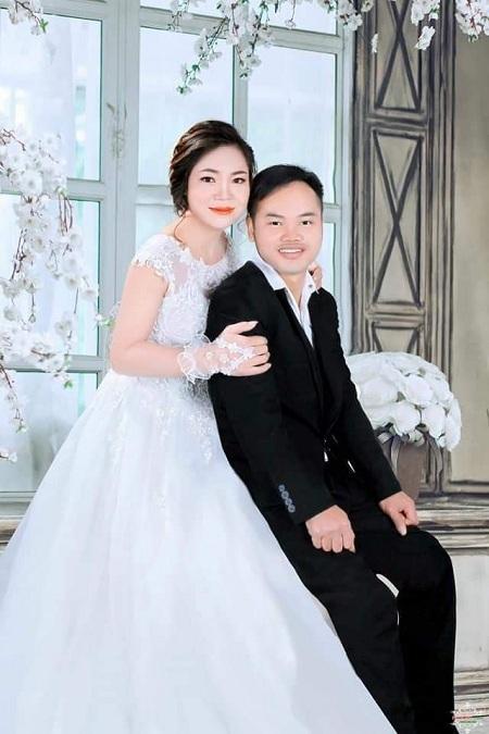 Vợ chồng anh Can và chị Thúy kết hôn năm 2017, sau gần một năm tìm hiểu. Ảnh: Nhân vật cung cấp.