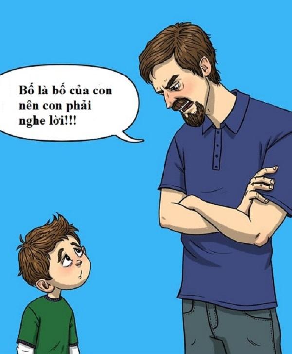 Sai lầm của bố khiến con trai tổn thương