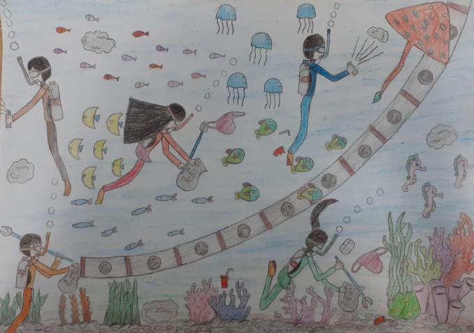 Em ước mơ chế tạo được một đường ống hút rác dưới biển lên, nhằm giúp việc vệ sinh môi trường ở dưới biển sẽ dễ dàng hơn. Môi trường biển trong xanh sẽ giúp các loài sinh vật biển như san hô, cá, tôm, cua... phát triển mạnh mẽ. Trái đất thân yêu sẽ trong sạch hơn!