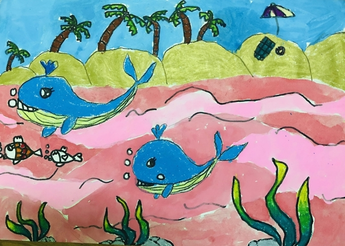 Với mong ước nhỏ nhoi lấy lại thế giới xanh, Minh Anh hy vọng biển cả sẽ được thanh lọc tươi đẹp hơn, những sinh vật biển sẽ nở nụ cươi để mang lại cho chúng ta mọi điều tốt đẹp. Hãy ngừng phá hoại thiên nhiên, để thiên nhiên tái sinh cũng là để cho chúng ta cơ hội sống yên vui trong vòng tay gia đình.