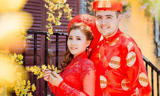 Ảnh cưới của Hải Yến và Anthony vào tháng 4/2018. Ảnh: Nhân vật cung cấp.