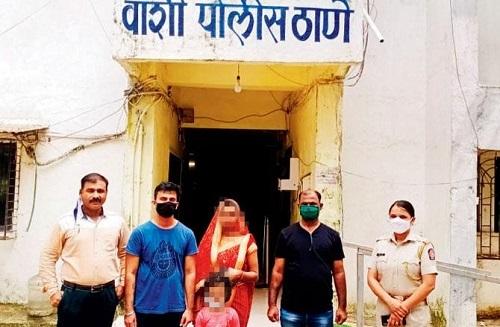 Manish đã được cảnh sát đưa về với gia đình sau ba tháng lừa dối trốn theo tình nhân. Ảnh: odditycentral.