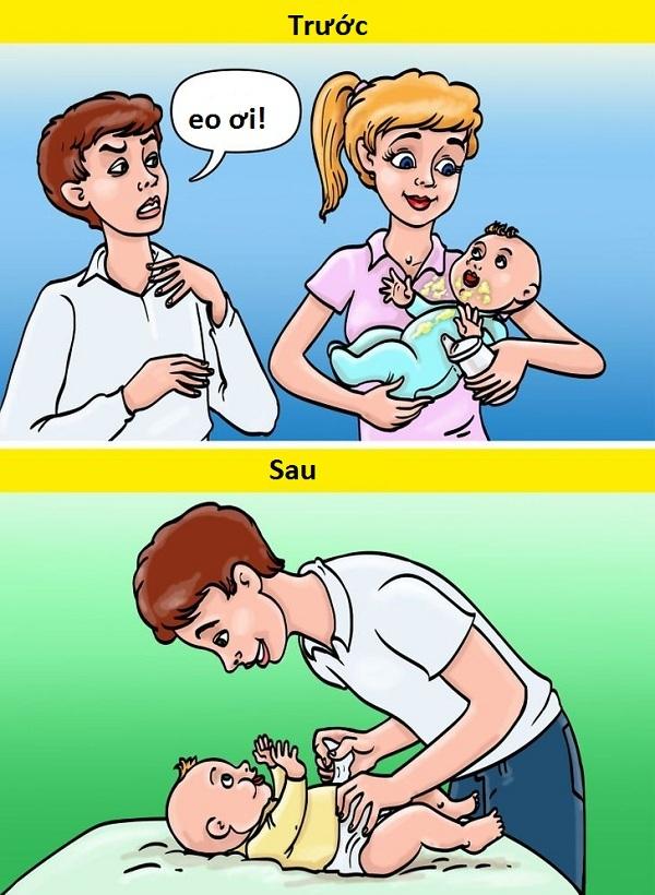10 khác biệt hài hước trước và sau khi có con