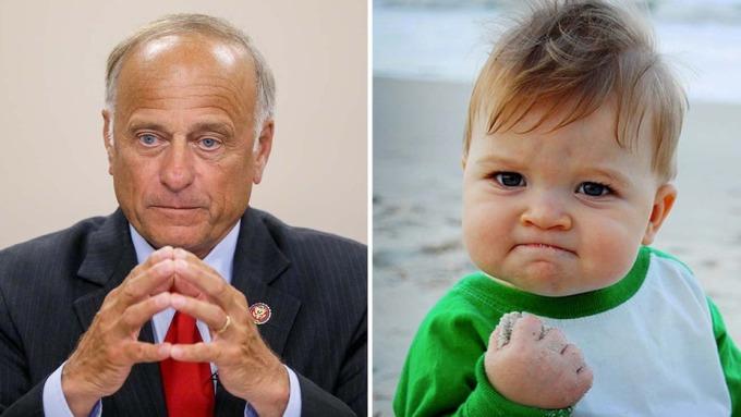 Tấm ảnh success kid của cậu bé Sam Griner ở Mỹ nổi tiếng suốt 13 năm qua khi người mẹ chỉ vô tình đăng lên Flickr . Và gần đây hạ nghị sĩ Steve King sử dụng ảnh trong chiến dịch gây quỹ, đã bị gia đình phản ứng dữ dội. Ảnh: Hollywoodreporter.