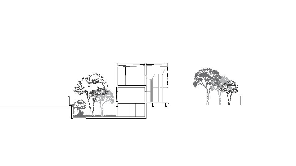 Ngôi nhà gạch với mái bê tông gấp nếp