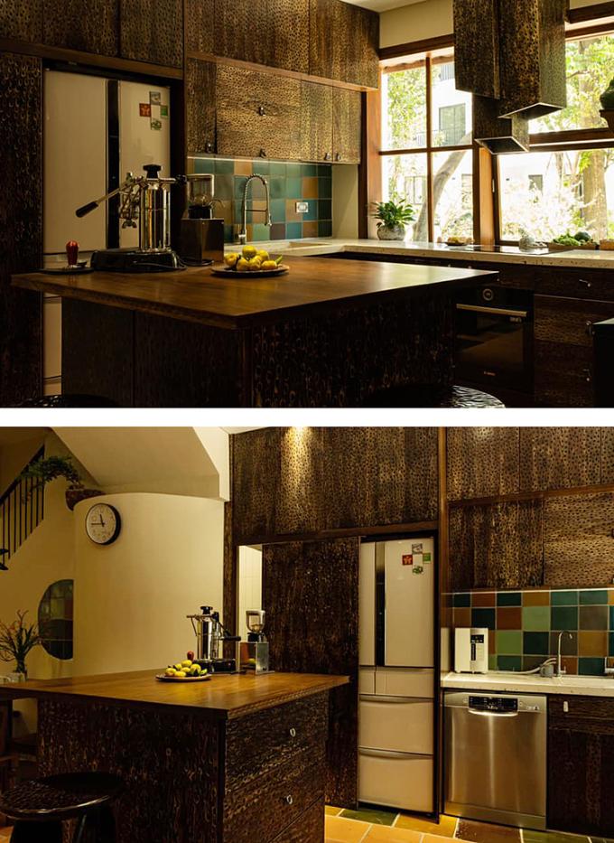 Khu bếp anh Tùng thiết kế tặng vợ. Ảnh: Lê Ngọc Tùng.