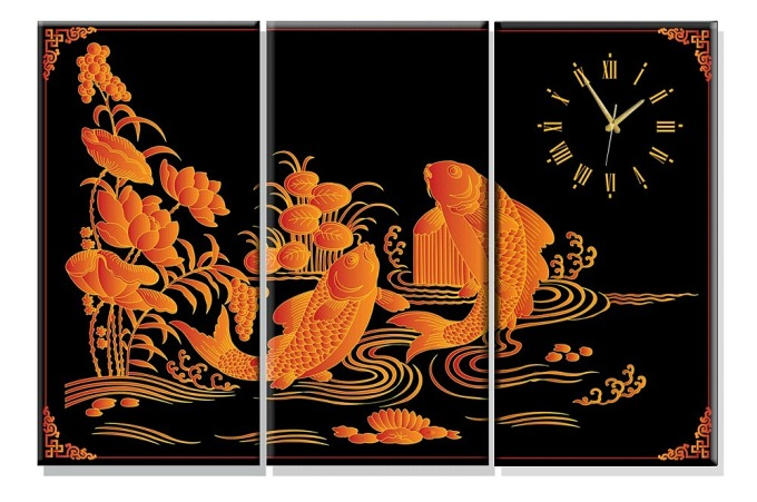 Dyvina 3T4080-1 đồng hồ tranh cá chép vàng 1.289.000đ769.000 Làm bằng chất liệu gỗ MDF nhập khẩu chống ẩm dày 1 cm, tranh in phủ màng lụa chống phai màu, màu sắc tươi đẹp bền bỉ. Đồng hồ chất lượng cao, chính xác và được bảo hành 12 tháng theo chính sách một đổi một trong suốt thời gian bảo hành. - Có thể dùng khăn ẩm vệ sinh - Treo các tấm tranh cách nhau 1cm hoặc khít nhau tùy thích Với thiết kế mang phong cách hiện đại, độc đáo và linh động  Đồng hồ tranh Dyvina thích hợp để trang trí, trưng bày trong nhà riêng, văn phòng, cửa hàng,... Với ưu điểm có thể phù hợp với nhiều phong cách nội thất từ cổ điển đến trang nhã, hiện đại, sản phẩm đồng hồ tranh này sẽ mang đến điểm nhấn tinh tế, thể hiện được phong thái của gia chủ một cách rõ rệt nhất. Bạn có thể dùng sản phẩm để trang trí cho không gian của mình hay có thể dùng làm món quà tặng ý nghĩa và bất ngờ dành đến đối tác, doanh nghiệp và những người