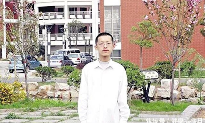 Liễu Trí Vũ khi còn là sinh viên khoa Toán Đại học Bắc Kinh. Ảnh: sina.