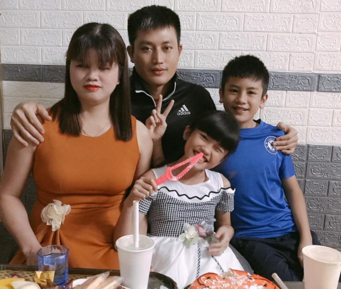 Mrs. Dung and her two children.  Photo: Character provided.