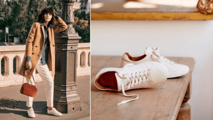 Các cô gái Pháp rất chuộng giày sneaker, thậm chí họ còn phối loại giày này với những bộ suite đạo mạo. Ảnh: Styleguide.