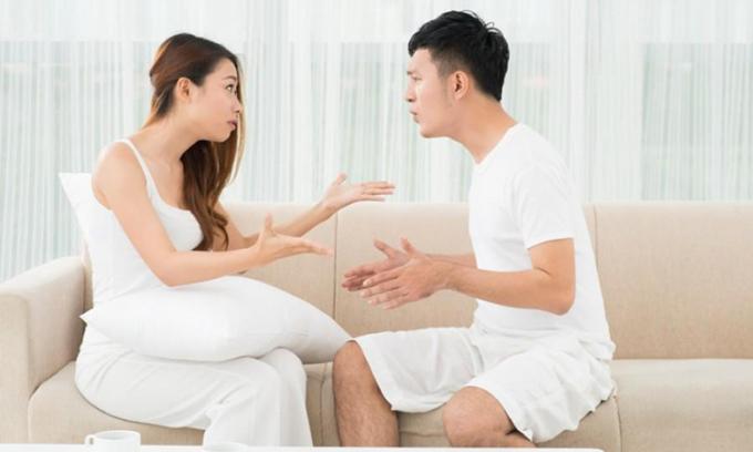 Trong hôn nhân, không thể tránh khỏi những mâu thuẫn, xích mích vì những chuyện nhỏ nhặt. Ảnh minh họa