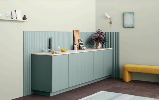 Sắc màu tươi mát và chất sơn dễ làm sạch là ưu tiên hàng đầu cho không gian bếp. Ảnh: Jotun Việt Nam.
