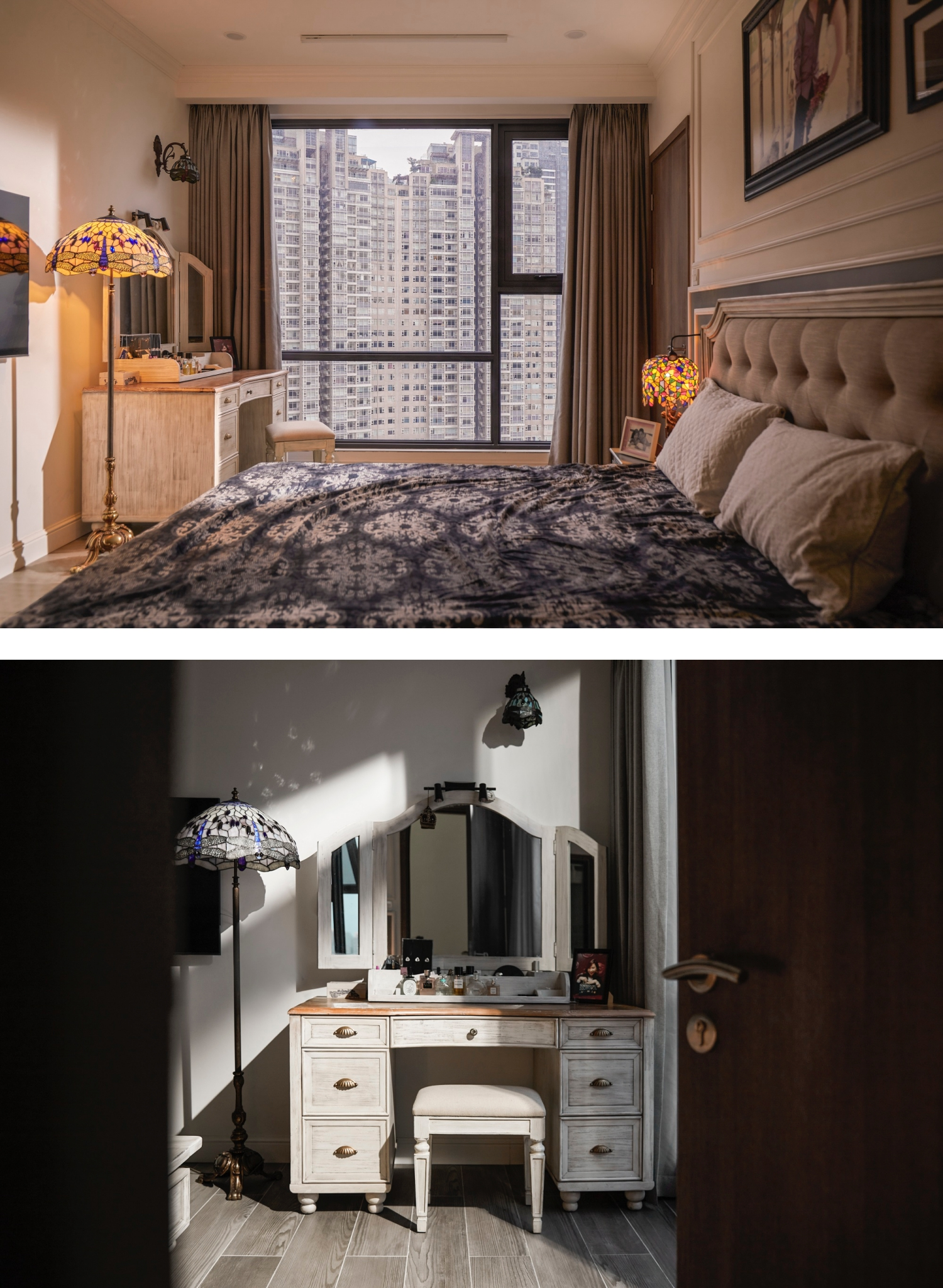 Hai căn hộ 90 m2 thông nhau qua một cánh cửa