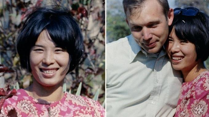 Bức ảnh chụp Bruce và người yêu vào năm 1969 vẫn được ông Bruce giữ đến nay. Ảnh: William Bruce.