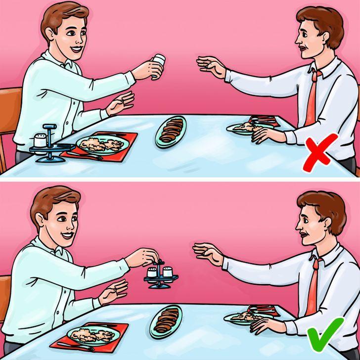 Quy tắc trên bàn ăn giúp bạn