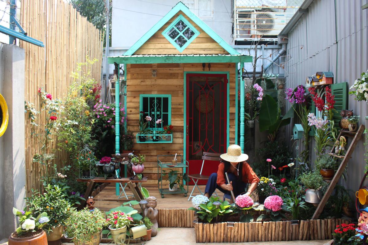 Khu vườn mini của gia đình Sài Gòn