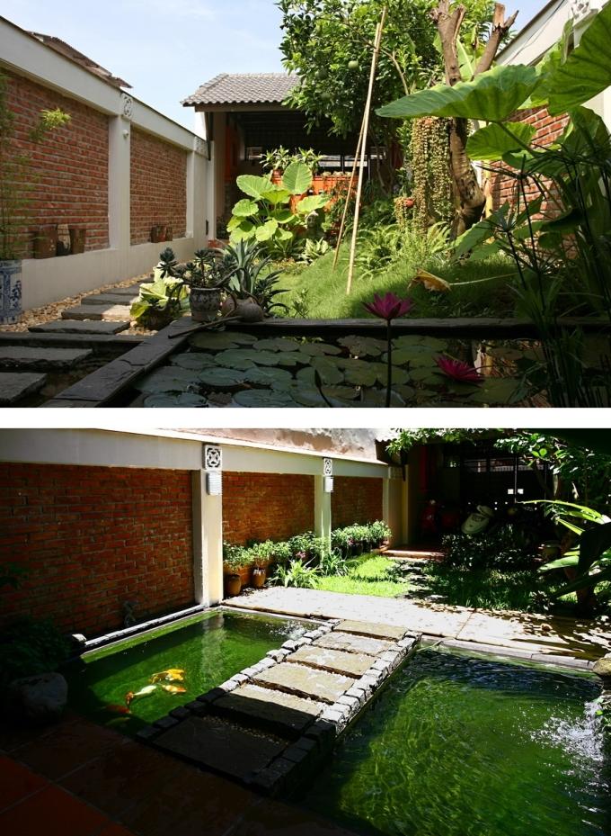 Khu vườn trông như mới sau khi được dọn dẹp, sắp xếp lại. Ảnh: Hà Thành.