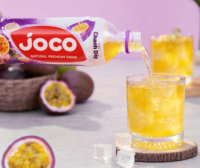 Nước trái cây Joco sẽ ngon và giải khát hiệu quả hơn khi được ướp lạnh hay uống chung với đá.