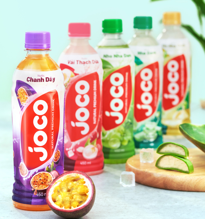 5 hương vị của nước trái cây Joco.