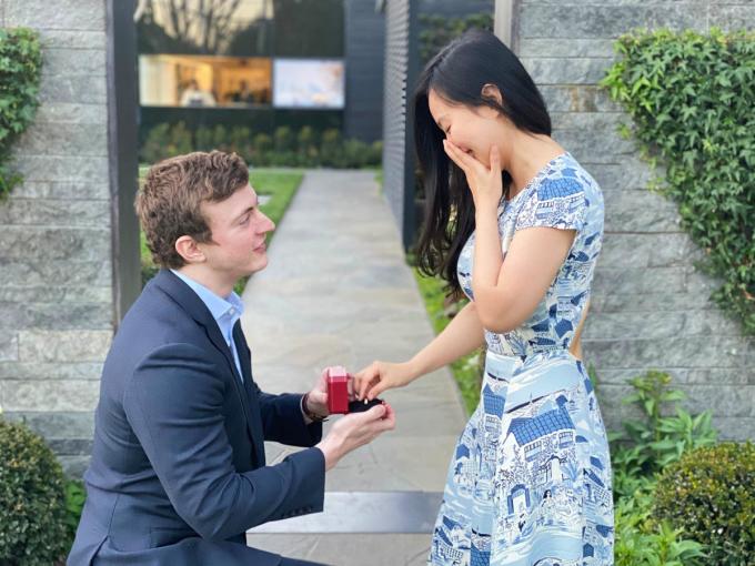 Morgan cầu hôn Bạch Linh và đôi trẻ đã tổ chức một hôn lễ nhỏ cuối tháng 2 vừa qua. Ảnh: Nhân vật cung cấp.