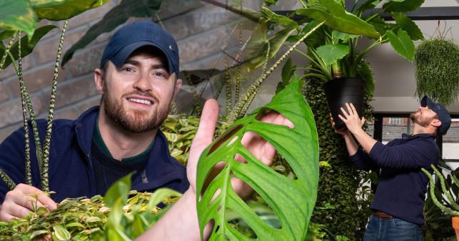 Tony bên bộ sưu tập cây của mình. Ảnh: Tony Le-Britton.